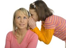 Whispering teenager Royalty Free Stock Photography