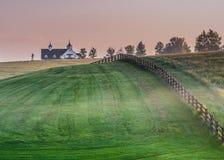 Whisps di nebbia nel paese del cavallo Immagine Stock Libera da Diritti