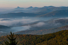 Whispy Fog in Appalachian Mountains Royalty Free Stock Photo