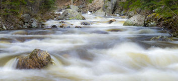 Whispy Water Fish Creek. Long shutter speed of Fish Creek in Steamboat Springs, Colorado Stock Photography