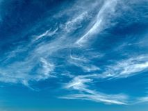 Whispy Wite Cirrus Cloud. PhotoArt, Prints, Gifts Royalty Free Stock Image