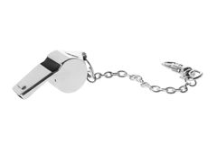Whistle. On Isolated White Background Stock Image