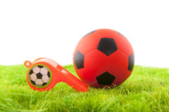 Whistle and ball Stock Photo