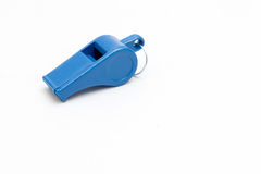 Whistle,. Blow to help on a white background Stock Photo