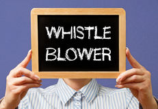 Whistle blower royalty free stock photo