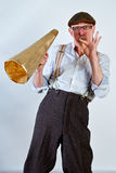 Whistle blowing Royalty Free Stock Photography