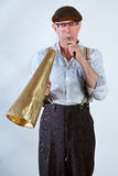Whistle blowing Stock Image