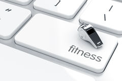 Whistle icon on the keyboard Stock Image