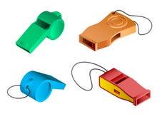 Whistle icon set, isometric style royalty free illustration