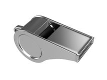 Whistle Isolated on White Background, 3D rendering. Illustration royalty free stock photography