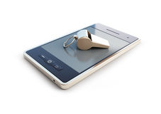Whistle for mobile phone Stock Image