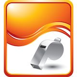 Whistle on orange wave background Stock Photos