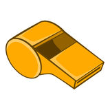 Whistle of refere icon, cartoon style Royalty Free Stock Photo
