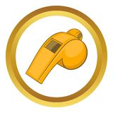 Whistle of referee vector icon Royalty Free Stock Image