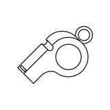 Whistle of soccer sport design Stock Photography