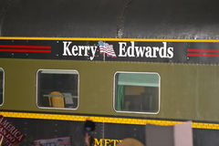 Whistle Stop Kerry Express across America train close-up, American Southwest Royalty Free Stock Photo