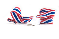 Whistle with Thailand national flag lanyard Royalty Free Stock Photo