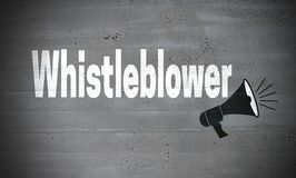Whistleblower on concrete wall concept background.  vector illustration