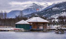 Whistler Air Float Plane Base on Green Lake Royalty Free Stock Photo