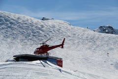 Whistler BC Canada dell'elicottero fotografie stock libere da diritti