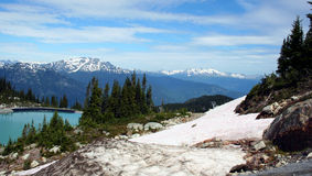 Whistler, Canada. View from Mount Whistler in the Canadian Rockies, Canada Royalty Free Stock Images