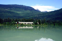 Whistler, Canada. House next to Green Lake, Whistler in the Canadian Rockies, Canada Stock Photo