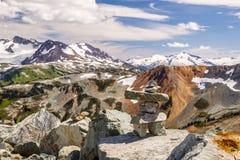 Whistler con le montagne della costa, Columbia Britannica, Canada Fotografia Stock Libera da Diritti