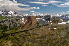 Whistler con le montagne della costa, Columbia Britannica, Canada Fotografia Stock