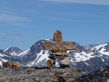 Whistler Inukshuk. An inukshuk based on the 2010 winter olympics logo for Whister BC Canada Stock Image