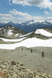 Whistler landscape with cyclist. British Columbia. Canada Stock Image