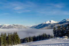 Whistler landscape. A view from the Whistler skying resort in Canada Royalty Free Stock Image