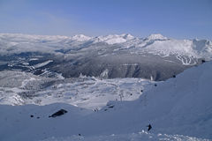 Whistler mountain. Skiing at Whistler/Blackcomb Mountains. Site of 2010 Winter Olympics Stock Images