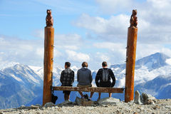 Whistler Mountain lookout Royalty Free Stock Image