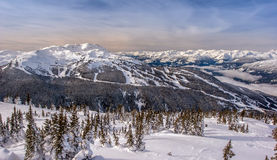 Whistler Mountain Winter Royalty Free Stock Images