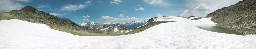 Whistler mountains panoramic view. British Columbia. Canada Royalty Free Stock Photography