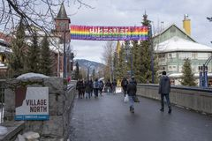 Whistler pride and ski festival 2019. Whistler, BC proudly hosts the 27th Annual Whistler Pride and Ski Festival, January 20th to 27th, 2019 royalty free stock images