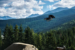 Whistler Slopestyle Halny jechać na rowerze Obraz Stock