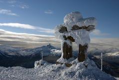 Whistler szczyt z Czarnym kła szczytem Fotografia Royalty Free