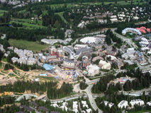 Whistler Village, British Columbia, Canada. Aerial view of Whistler Village which will host the 2010 Winter Olympics, British Columbia, Canada Royalty Free Stock Image