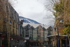 Whistler Village Canada. View of Village at Whistler Canada Royalty Free Stock Photos