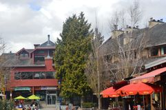 Whistler Village Canada. View of Village at Whistler Canada Royalty Free Stock Photography