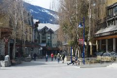 Whistler Village Canada. View of Village at Whistler Canada Royalty Free Stock Photo