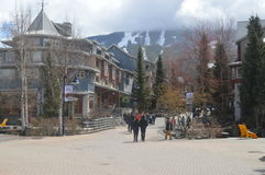 Whistler Village Canada. View of Village at Whistler Canada Royalty Free Stock Image