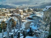 Whistler village in winter. Whistler Olympic Village. British Columbia. Canada Stock Image