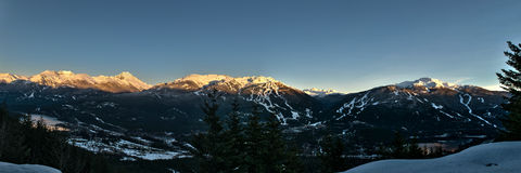 Whistler zimy zmierzch Obraz Royalty Free