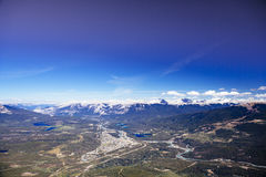 Whistlers montagna, Jasper National Park Immagine Stock