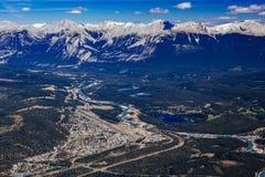 Whistlers montagna, Jasper National Park Fotografia Stock Libera da Diritti