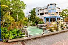 Whistlerstad British Columbia Kanada Fotografering för Bildbyråer
