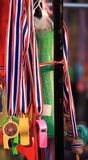 Whistles for sale to Thai protestors Stock Images