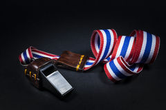 Whistles with Thailand national flag lanyard Royalty Free Stock Image